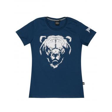 Женская футболка «Медведь» индиго