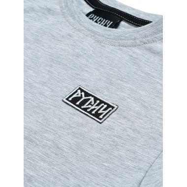 Детская футболка РУСИЧ серый меланж