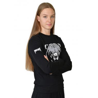 Женский свитшот «Медведь» чёрный
