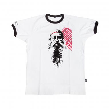 Женская футболка «Доброслав» реглан белая