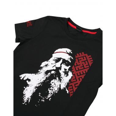 Женская футболка «Доброслав» чёрная